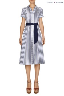 Tommy Hilfiger Blue Marlow Midi Shirt Dress
