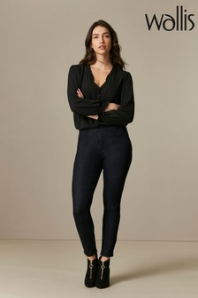 Wallis Demi Indigo Side Zip Jeggings