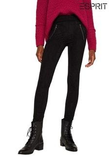 Esprit Black Leggings With Zipper