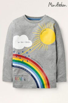 Mini Boden Grey Nature Facts T-Shirt