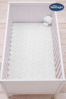 Safe Nights Star Cot Bed Fitted Sheet by Silentnight
