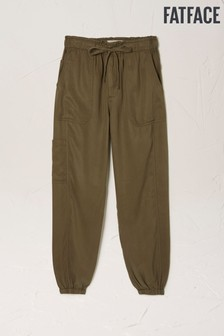FatFace Green Linslade Utility TENCEL™ Trousers