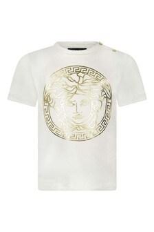 Baby Boys Ivory Cotton Jersey T-Shirt