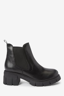 Super Chunky Heeled Chelsea Boots