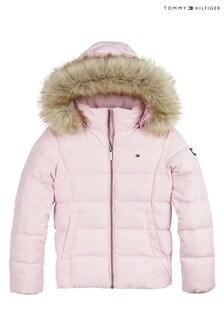 Tommy Hilfiger Pink Essential Basic Down Jacket