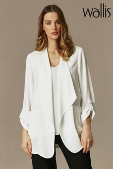 Wallis Cream Relaxed Collar Blazer