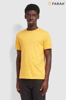 Farah Yellow Danny Short Sleeved T-Shirt