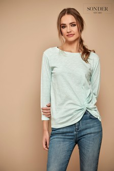Sonder Studio Cotton Modal Slub Twist Top