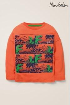 Boden Orange Graphic T-Shirt