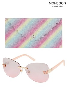 Monsoon Multi Rimless Butterfly Sunglasses With Case