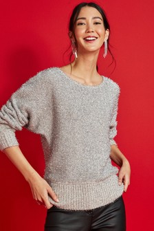 Tinsel Off Shoulder Jumper