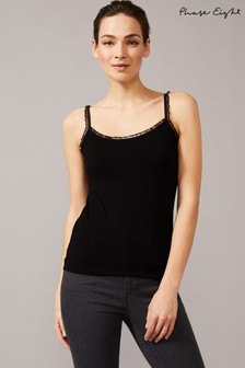 Phase Eight Black Sequin Cami Top