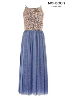 Monsoon Gold Selena Sequin Prom Dress