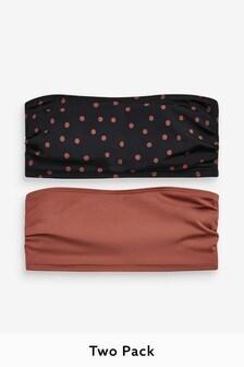 Bandeau Bikini Tops Two Pack