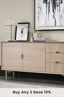 Dansk Scandi Wide Sideboard by Bentley Designs