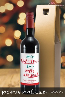 Personalised Happy Hangover Red Wine by Signature PG
