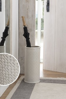 Tile Print Ceramic Umbrella Stand