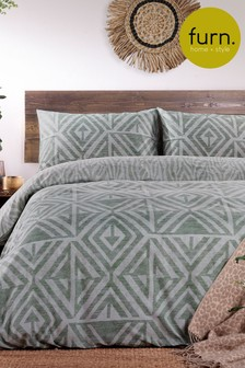 Tanza Geo Duvet Cover and Pillowcase Set by Furn