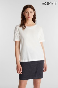 Esprit Womens Natural Short Sleeved 2nd Skin T-Shirt