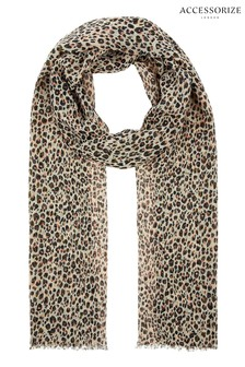 Accessorize Natural Multi Leopard Print Scarf