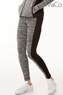 M&Co Grey Athleisure Colourblock Leggings