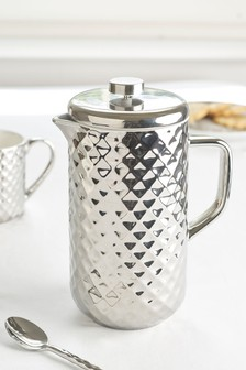 Ceramic Chrome Cafetiere