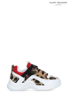 Kurt Geiger London White Mini Lunar Animal Sneakers