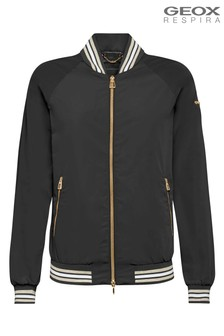 Geox Womens Topazio Black Short Jacket