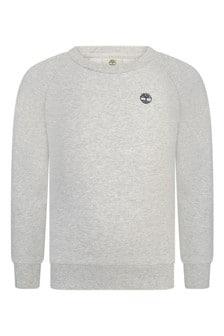 Boys Grey Crew Neck Sweater