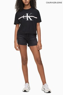 Calvin Klein Black Slim Denim Shorts