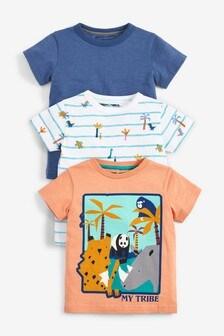 3 Pack My Tribe Animal T-Shirt (3mths-7yrs)