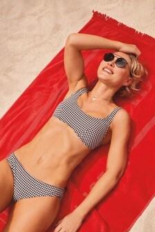 Emma Willis Gingham High Leg Bikini Briefs