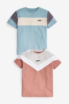 2 Pack Colourblock T-Shirts (3-16yrs)
