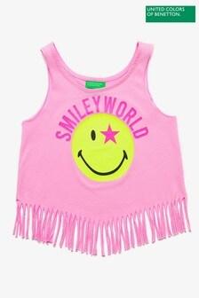 Benetton Pink Tassel Vest