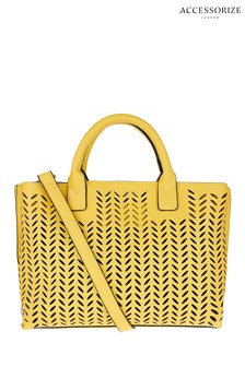 Accessorize Yellow Cut Out Handheld Bag