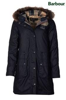 Barbour® Reengineered Navy Wax Parka Mull Coat