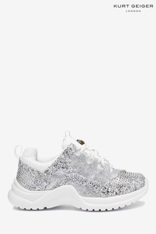Kurt Geiger London Silver Mini Lunar Sneakers