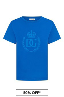 Dolce & Gabbana Boys Blue Cotton T-Shirt