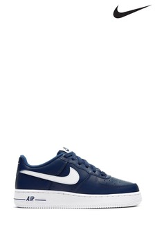 Nike Navy/White Air Force 1 Youth Trainers