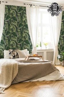Superfresco Easy Elegant Leaves Green Wallpaper by Art For The Home