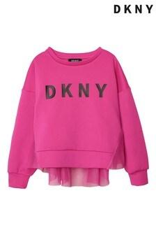 DKNY Pink Logo Sweatshirt