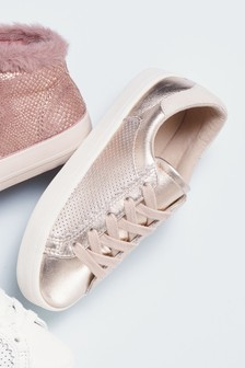 Leather Perforated Trainers