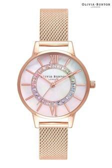 Olivia Burton Rainbow Wonderland Mesh Watch