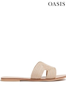 Oasis Natural Woven Sliders