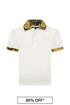 Versace Baby Boys White Cotton Poloshirt