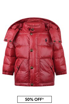 Baby Boys Red Padded Jacket