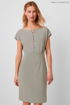 French Connection Grey Boh Whisper Short Sleeve Dress