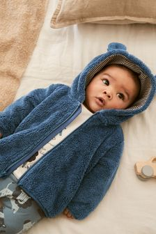Cosy Fleece Bear Jacket (0mths-2yrs)