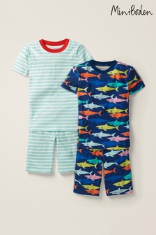 Boden Navy Short Pyjamas Two Pack