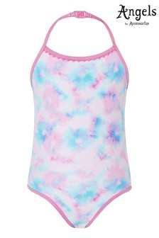 Accessorize Pink Tie Dye Printed Swimsuit